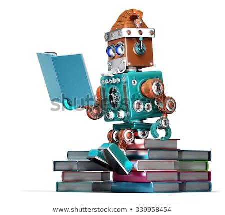 Święty · mikołaj · czytania · książki · szczęśliwy · okulary · starej · książki - zdjęcia stock © kirill_m
