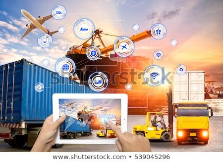 Manos puerto par fuerte de trabajo grande Foto stock © danielbarquero