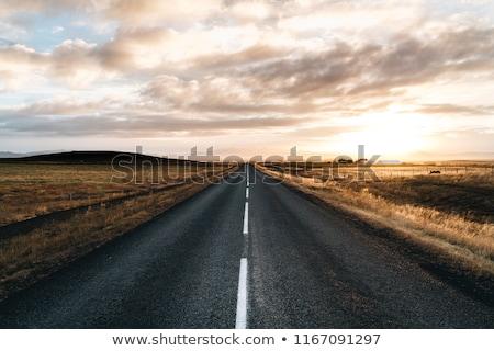 estrada · estrada · de · cascalho · África · do · Sul · paisagem · fundo · deserto - foto stock © 3pphoto31