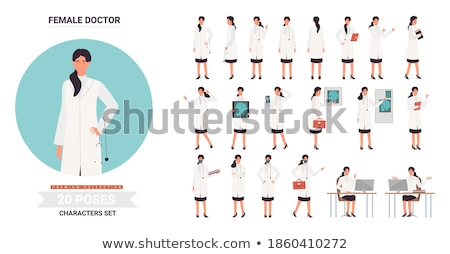 Female doctor posing with backbag Stock photo © stockyimages