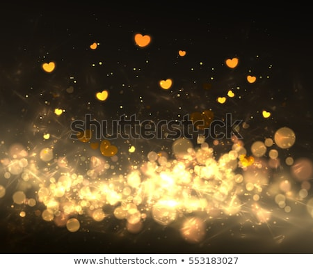 glamorous gold   happy valentines day stock photo © nazlisart