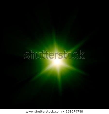 Сток-фото: �спышка · зеленого · света · со · звездами