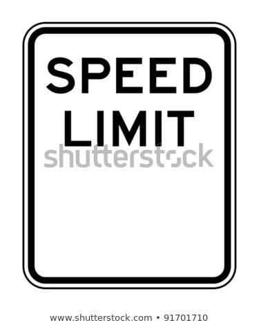 ограничение · скорости · знак · американский · изолированный · белый · копия · пространства - Сток-фото © elenarts