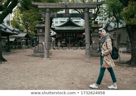 Rock At Shinto Shrine Stock photo © searagen