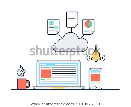 Cloud Software on Red in Flat Design. Stock photo © tashatuvango
