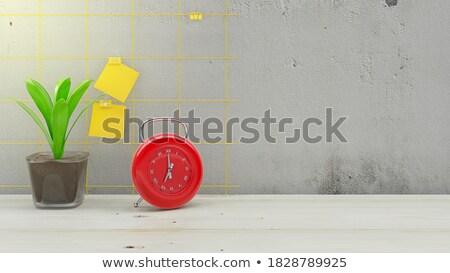 Ringing Bell - Yellow Sticker on Message Board. Stock photo © tashatuvango