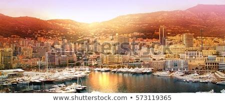 Marina modernes bâtiments Monaco bateaux contemporain Photo stock © rglinsky77