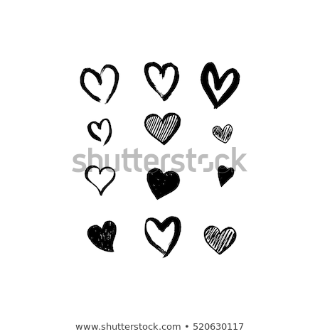 hand print hearts, vector set Stock photo © beaubelle