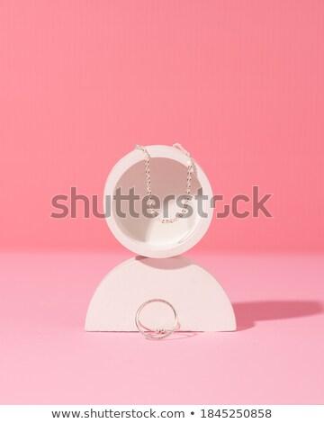 nyaklánc · karkötő · izolált · fehér · fekete · ajándék - stock fotó © siavramova