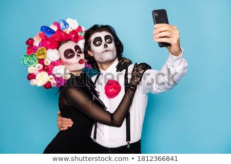 день мертвых любви женщину сахар череп Сток-фото © songbird