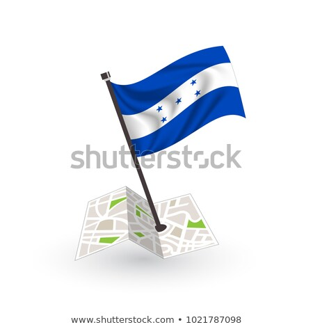 Israel Small Flag on a Map Background. Stock photo © tashatuvango