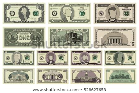 Hundred and fifty dollars bills on white background. Stock photo © stevanovicigor