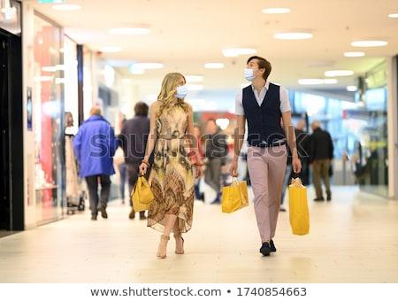 vrouwen · illustratie · meisje · mode · winkelen - stockfoto © kakigori