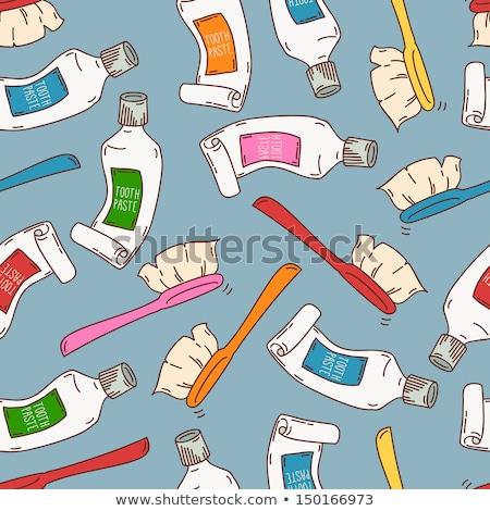 эскиз зубов щетка зубов вектора шаблон Сток-фото © kali