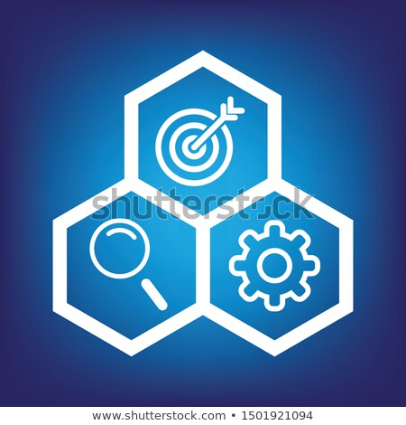 Blauw · abstract · versnellingen · vector · moderne · ontwerp - stockfoto © lemonti