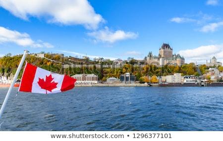 The flag of Quebec City, Canada Stock photo © aladin66