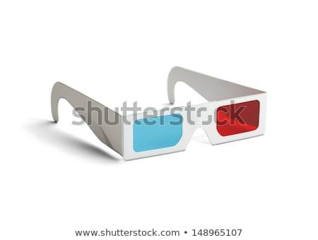 óculos 3d branco computador gerado imagem óculos Foto stock © Bibigon