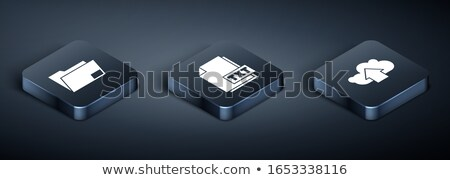 downloaden · map · 3D · icon · 3d · illustration · computer - stockfoto © koya79