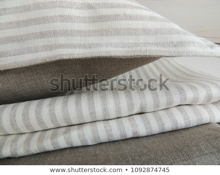 Bed sheet pile and dark background Stock photo © jeancliclac