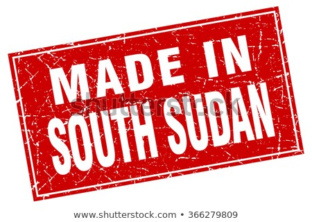 Dél Szudán pecsét felirat piros izolált Stock fotó © tashatuvango