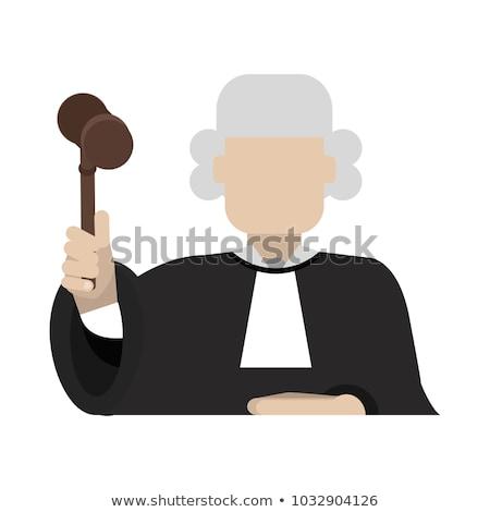 裁判官 少女 アイコン 孤立した ストックフォト © lenm