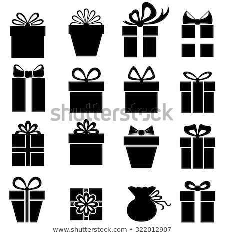 Ajándék sziluettek karácsony születésnap réteges illusztráció Stock fotó © DzoniBeCool