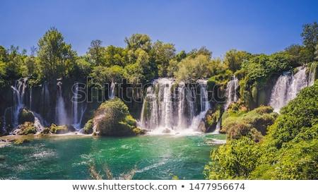 Montanas río árboles Bosnia Herzegovina naturaleza paisaje Foto stock © joyr