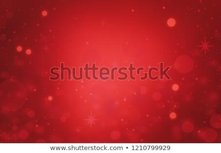 Karácsony buborékok tájkép tél kék csillag Stock fotó © Vg