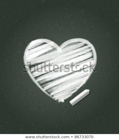 text I love you in a heart-shaped blackboard Stock photo © nito
