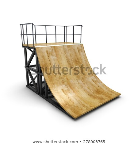 Skateboarder On a Skate Ramp Stock photo © arenacreative