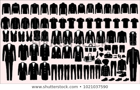 Stock photo: Mens Clothes Illustration