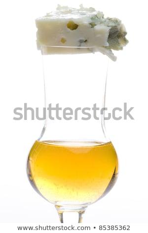 glass of Tokai wine with roquefort chees Stock photo © phbcz