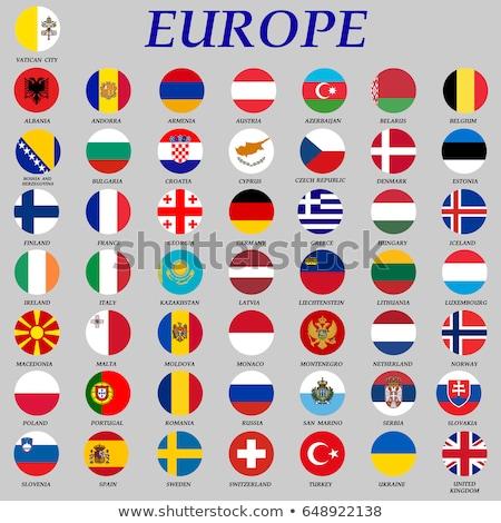 Botão bandeira Estônia metal quadro viajar Foto stock © MikhailMishchenko