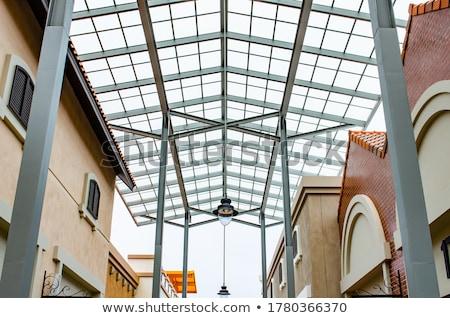 Mall dak staal uit landschap buiten Stockfoto © wxin