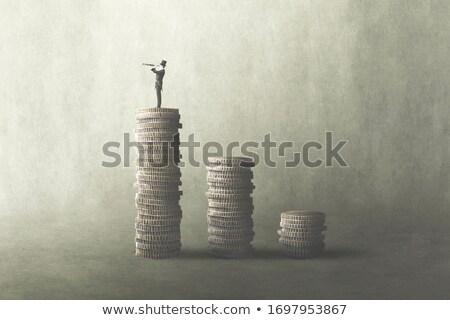 Economisch financiële groep groene bomen Stockfoto © Lightsource