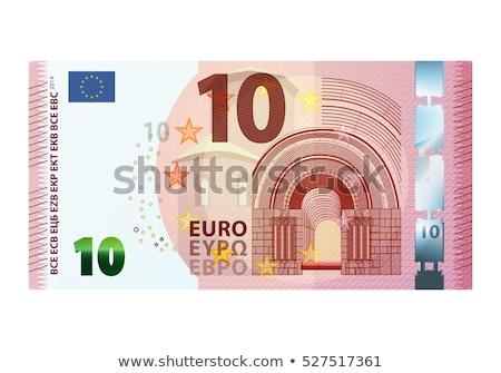 pequeno · dez · euro · notas · dinheiro · diagonal - foto stock © ustofre9