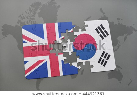 south korea and european union flags in puzzle stock photo © istanbul2009