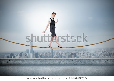 zakenvrouw · balancing · handelen · witte · business · corporate - stockfoto © wavebreak_media