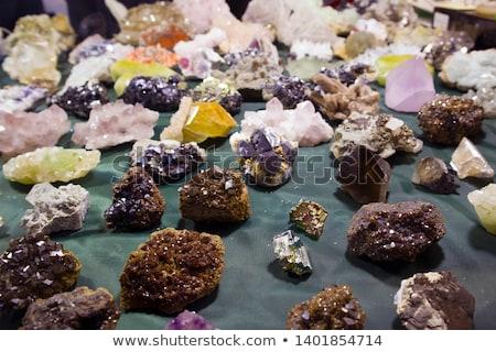 Farbe Mineralien Edelsteine Sammlung Natur Gruppe Stock foto © jonnysek