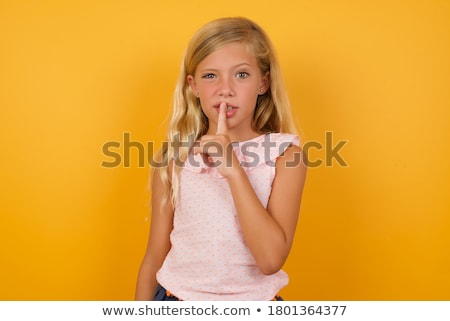 Shh,  don't make noise ! Stock photo © stockyimages