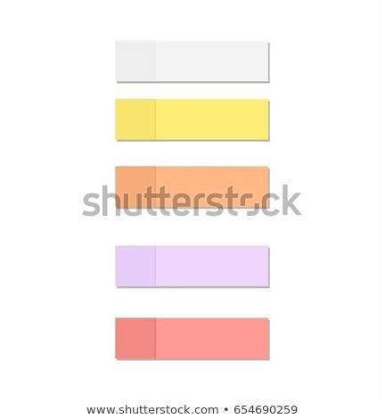 descargar · aquí · vector · azul · notas · adhesivas - foto stock © rizwanali3d