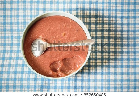 Directly above shot of chocolate desert Stock photo © stryjek