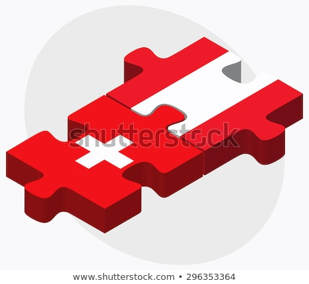 switzerland and austria flags in puzzle stock photo © istanbul2009