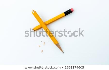 Potlood woede illustratie gebroken school schrijven Stockfoto © nicemonkey