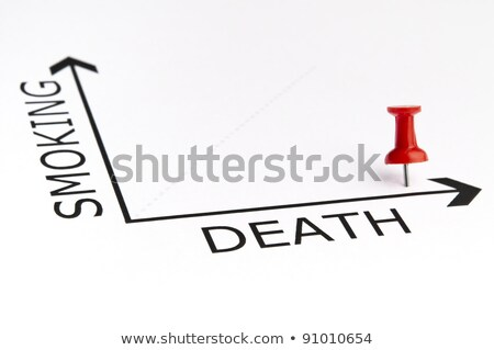 Stock photo: Death chart with green pin
