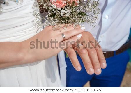 Hands newlyweds Stock photo © bezikus