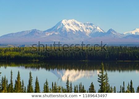 Cair cor alpino lago Alasca alcance Foto stock © cboswell