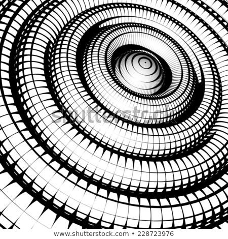 Concentrico tubi griglia pattern bianco nero abstract Foto d'archivio © Melvin07