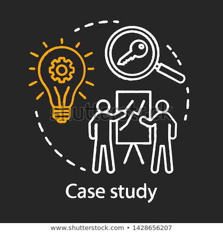 case study concept hand drawn on chalkboard stock photo © tashatuvango