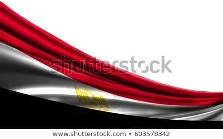Egipcjanin banderą odizolowany biały za ziemi Zdjęcia stock © giko